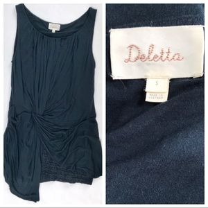 ANTHROPOLOGIE DELETTA Grecian Draped Tank
